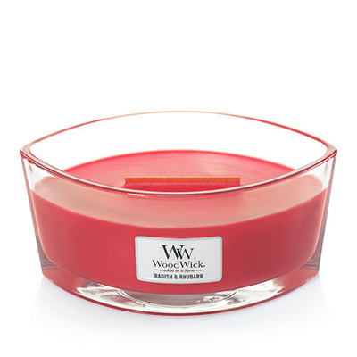 Bougie Rhubarbe & Radis Ellipse - WoodWick