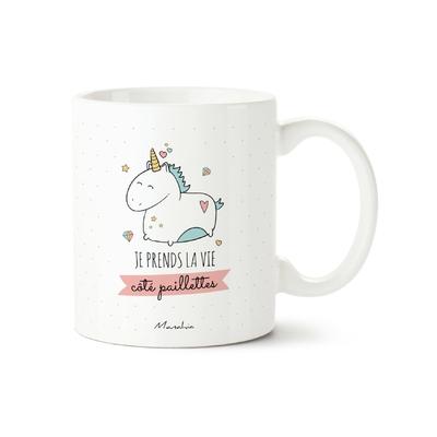 Mug Je prends la vie côté paillettes - Manahia 1