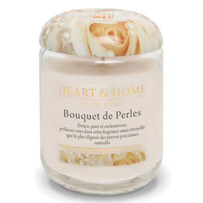 Bougie parfumée Bouquet De Perles 115g - Heart & Home