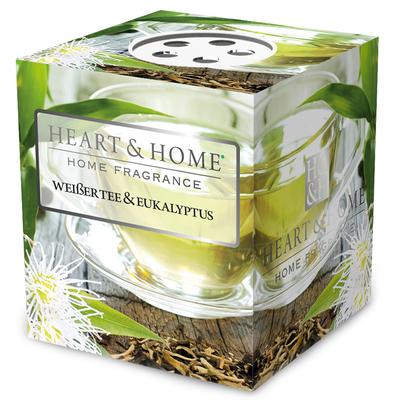 Bougie parfumée Thé Blanc & Eucalyptus 53g - Heart & Home