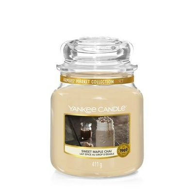 Bougie Sweet Maple Chaï moyenne jarre - Yankee Candle