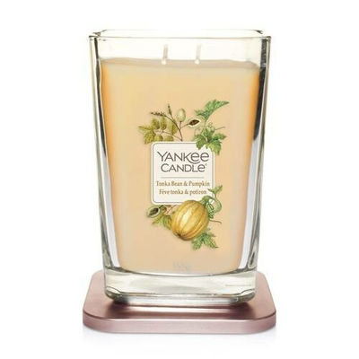 Bougie Fève Tonka & Potiron grande jarre (gamme Elevation) - Yankee Candle 2