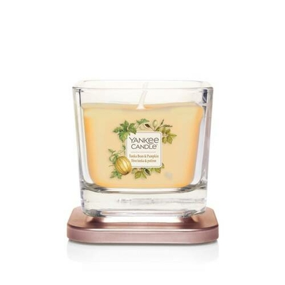 Bougie Fève Tonka & Potiron petite jarre (gamme Elevation) - Yankee Candle 2