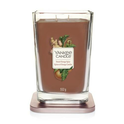 Bougie Épices & Orange Confite grande jarre (gamme Elevation) - Yankee Candle 2