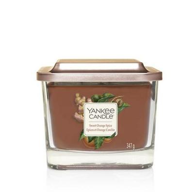 Bougie Épices & Orange Confite moyenne jarre (gamme Elevation)