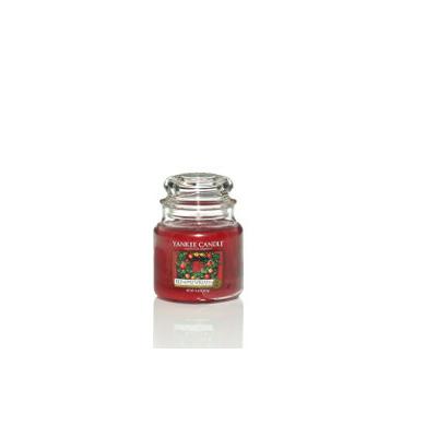 Bougie Red Apple Wreath moyenne jarre