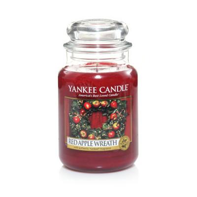 Bougie Red Apple Wreath grande jarre