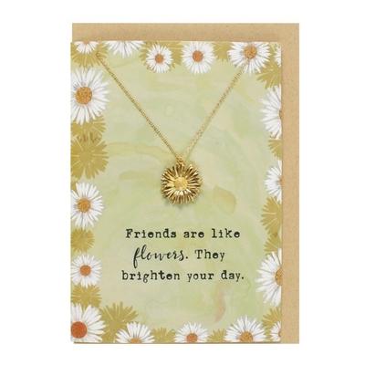 Collier et carte fleur