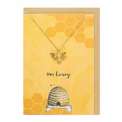Collier et carte abeille