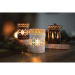 Coffret petites bougies et un photophore blanc motif flocons - WoodWick 2