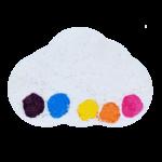 Boule de bain Watercolours Raining Rainbows - Bomb Cosmetics 1