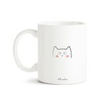 Mug chat Bonjour mon petit chat (rose) 2