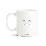 Mug chat Bonjour mon petit chat (bleu) 2