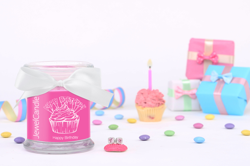 Bougie parfumée Happy Birthday (boucles d'oreilles) - JewelCandle