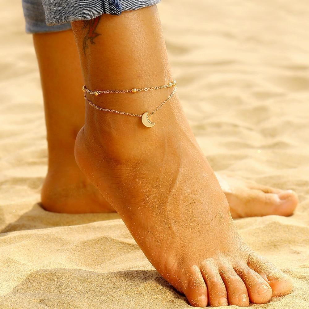 bracelet cheville lune