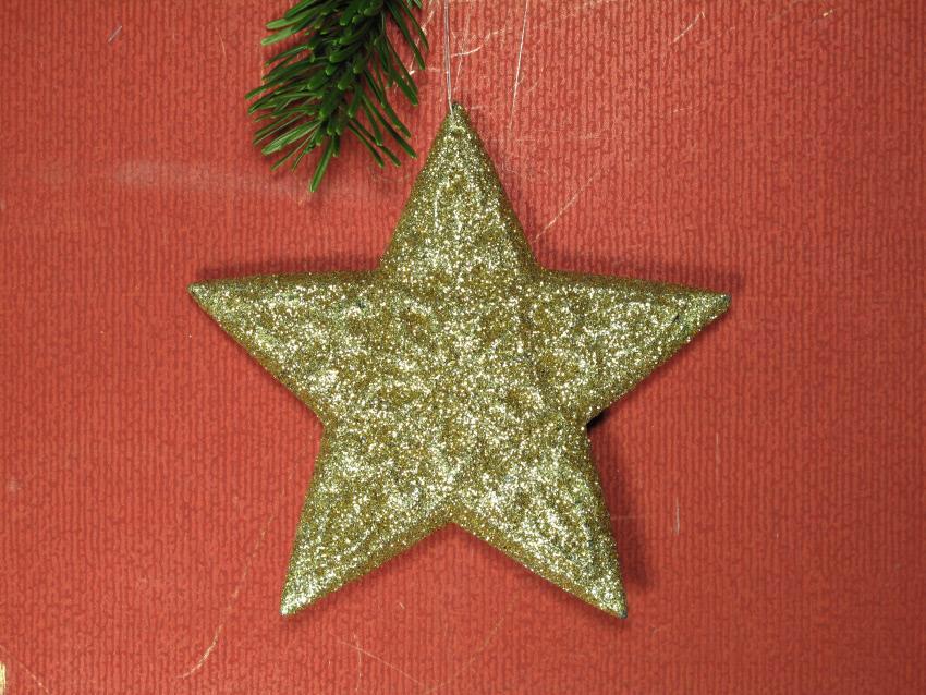 étoile de noel or