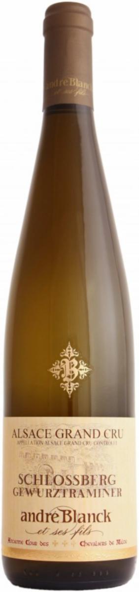 gewurztraminer-schlossberg- Domaine Andre Blanck-lalsace en bouteille