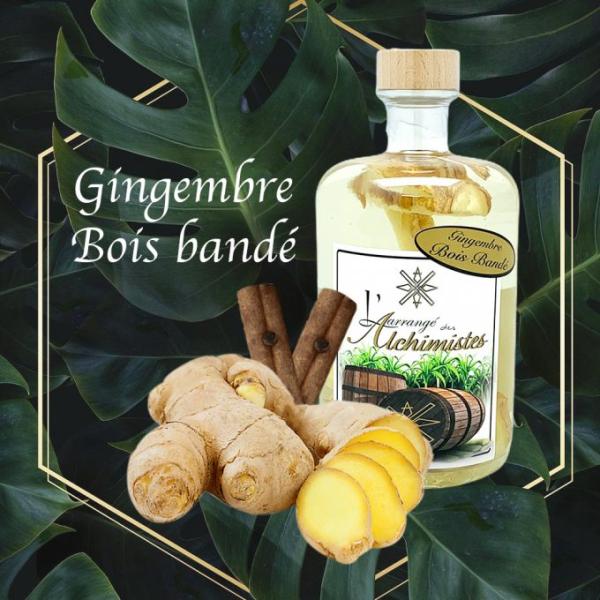 Rhum Gingembre Bois bandé ,L'arrangé des Alchimistes,lalsace-en-bouteille