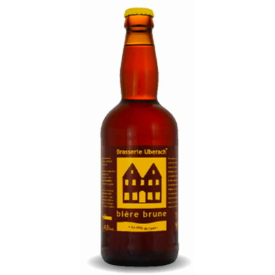 Bière Brune-Lot de 6 Bouteilles - Brasserie Uberach