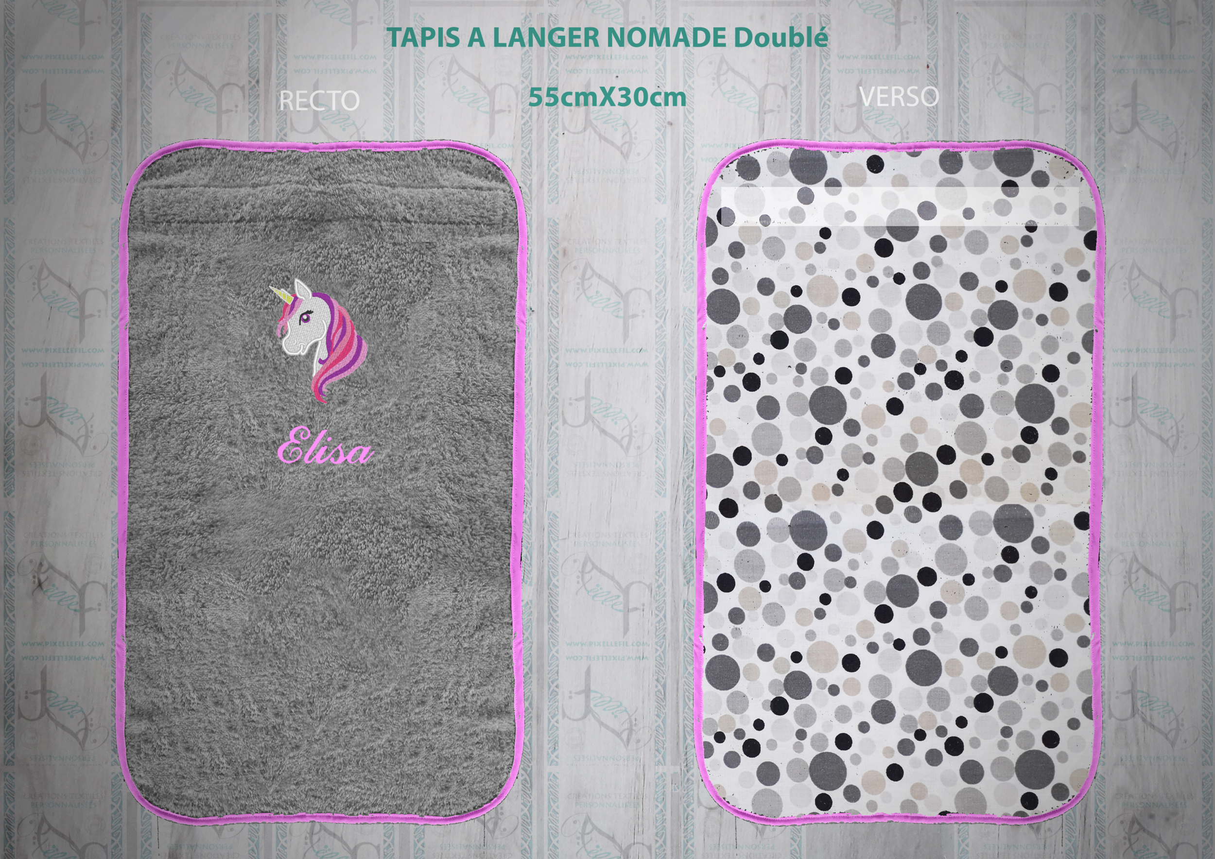 TAPIS A LANGER Nomade Doublé