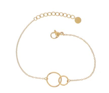 Bracelet double cercles