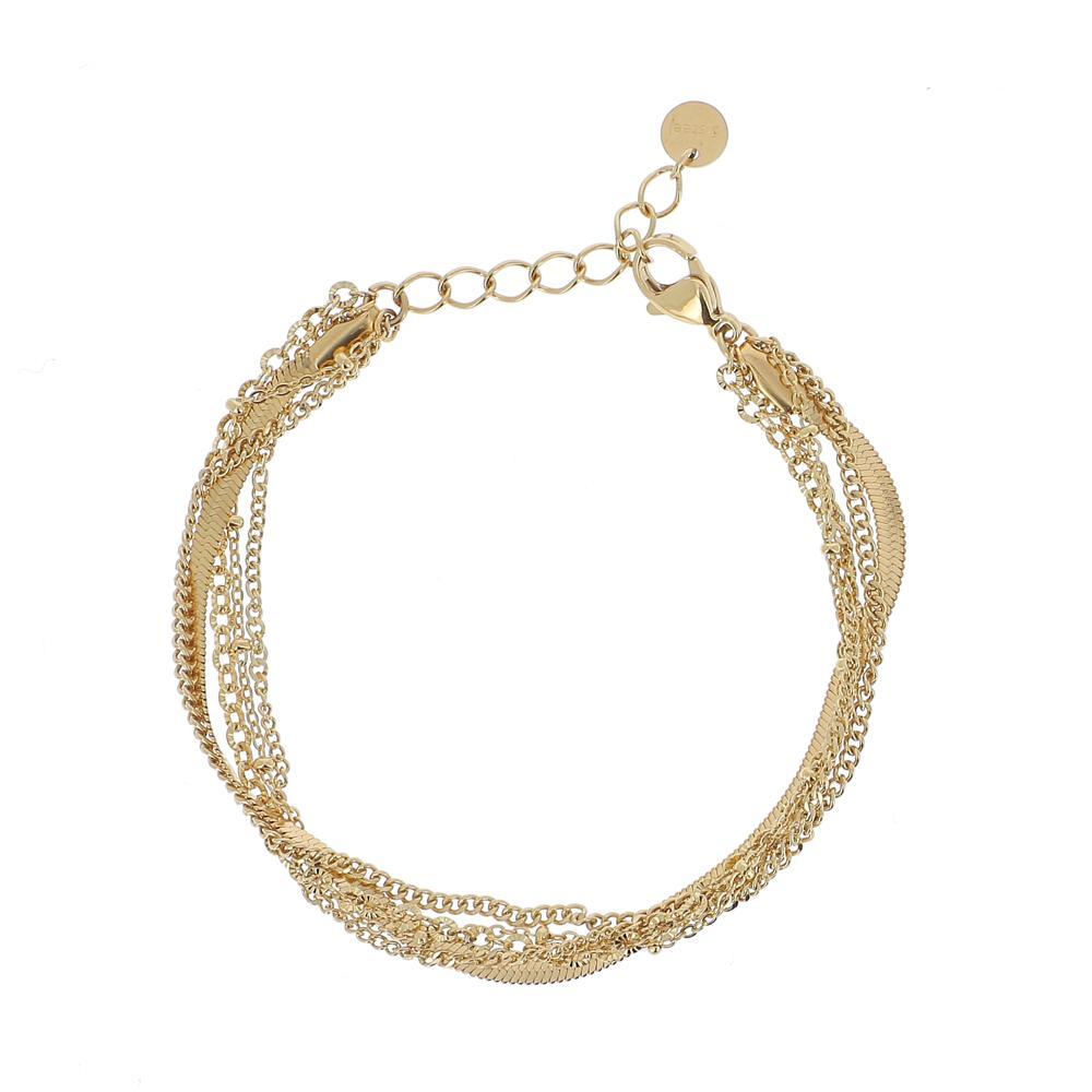 Bracelet 5 rangs avec mailles