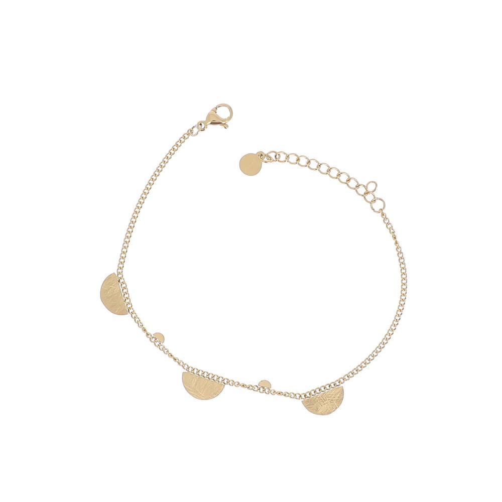 Bracelet doré en maille effet brossé