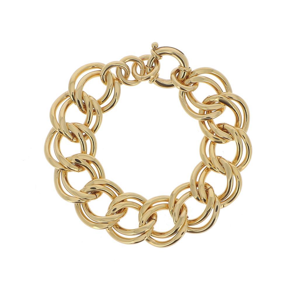Bracelet doré (19+2cm) en grosses mailles