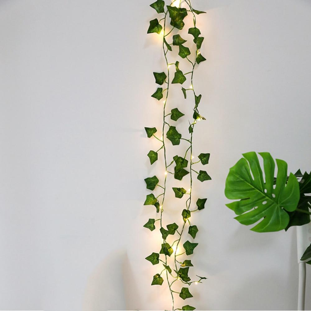 Guirlande lumineuse végétale