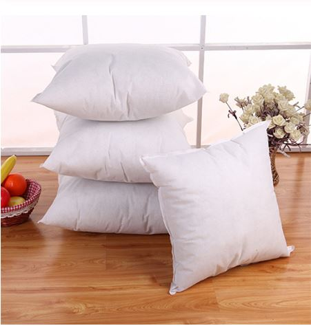 Coussin blanc insert coton 45x45 cm