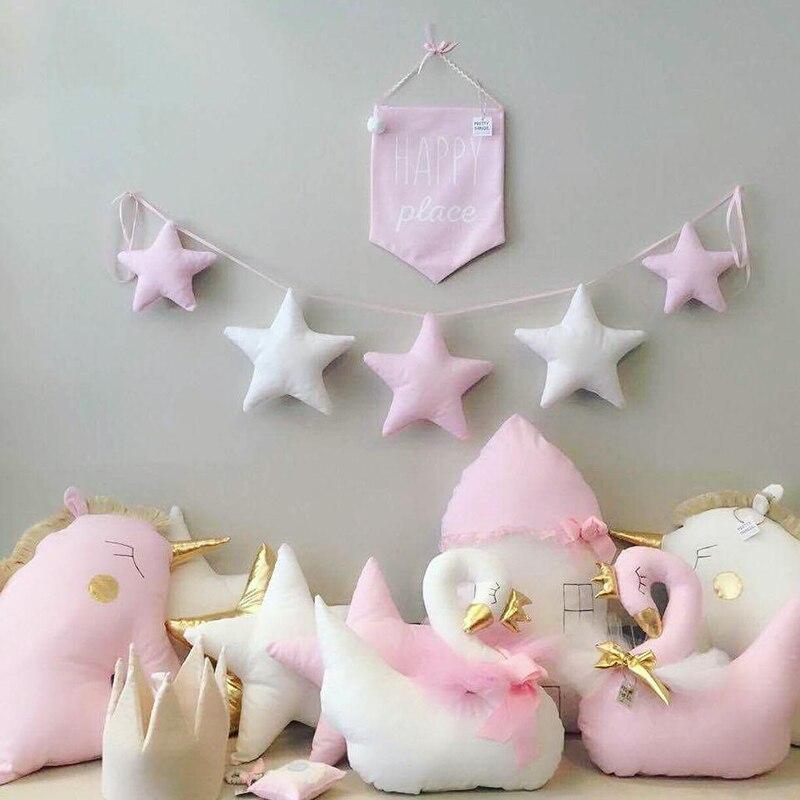 Guirlande d\'étoiles en tissu