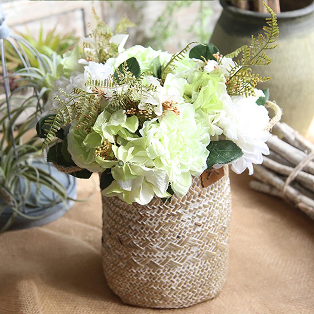 Panier-de-rangement-tiss-la-main-jonc-de-mer-nordique-tiss-jardin-fleur-Vase-suspendu-panier