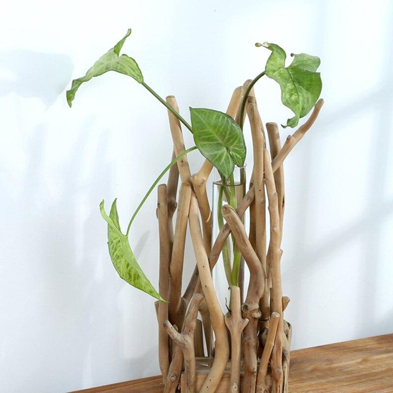 Support décoratif à bouture en bois