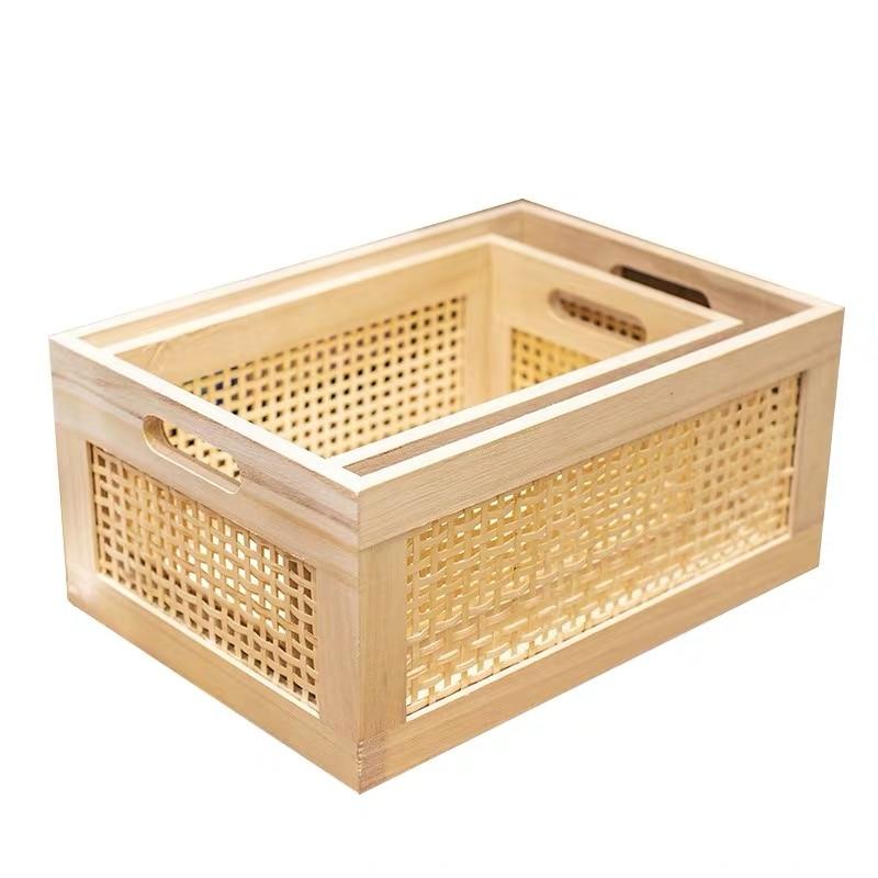Bo-te-de-rangement-en-bois-pratique-faite-la-main-couleur-primaire-panier-de-rangement-d