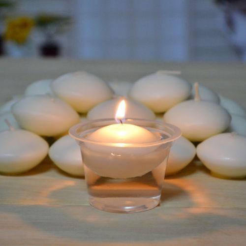 10 bougies rondes flottantes