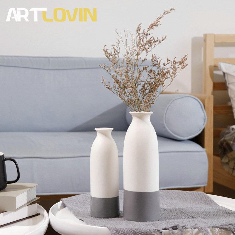 Vase en céramique bicolore