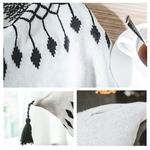 Adulte-b-b-enfants-coton-gland-couverture-ensemble-grand-la-main-plaid-crochet-tricot-couverture-fil