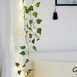 Vert-rotin-feuille-lumi-re-LED-cha-ne-cuivre-fil-lampe-maison-int-rieur-d-coratif