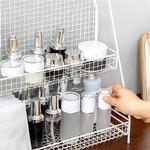 Maison-Double-couches-Rack-m-tal-cuisine-chambre-bureau-organisateur-assaisonnement-pot-tudiant-dortoir-tag-re