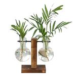 Terrarium-hydroponique-plante-Vases-Vintage-Pot-de-fleur-Vase-Transparent-cadre-en-bois-verre-table-plantes