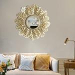 Miroir-mural-suspendu-cadre-en-fer-rond-d-coratif-miroir-mural-feuille-d-or-miroir-mural