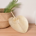 Ventilateur-de-refroidissement-1-pi-ce-bricolage-forme-de-c-ur-en-bambou-pur-tiss-la