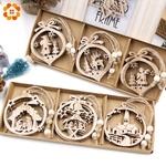 12-pi-ces-bo-te-Vintage-creux-no-l-en-bois-pendentifs-ornements-d-corations-de