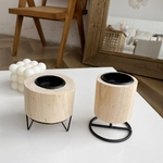 Bois-m-tal-photophore-bougeoirs-d-coration-moderne-rond-contemporain-support-Table-pi-ce-ma-tresse