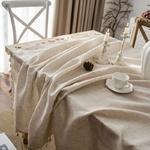 Nappe-de-Table-en-coton-et-lin-r-tro-couverture-de-Table-rectangulaire-avec-pompon