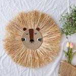D-coration-murale-suspendue-en-fil-de-coton-tissage-la-main-motif-Lion-d-coration-nordique