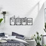 4-pi-ces-Cactus-m-tal-cadre-botanique-toile-peinture-photos-pour-salon-d-coration-de