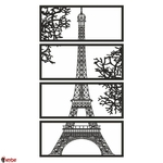 Art-mural-en-bois-D-coration-de-la-Tour-Eiffel-Paris-Couleur-noire-Bureau-domicile-moderne