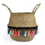 22x20-Seagrass-Vannerie-Panier-En-Rotin-Pliable-Suspendus-Pot-De-Fleur-Planteur-Tiss-Sale-Panier-Linge