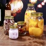 Bouteille-polyvalente-en-verre-sculpt-bouteille-de-haute-qualit-300-ML-scell-confiture-miel-cornichons-pot